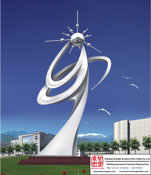 Outdoor Environment-Friendly Stainless Steel Sculpture