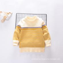 El patrón de flor redonda del cuello hizo punto el suéter del bebé de la manera, diseño del suéter de la niña