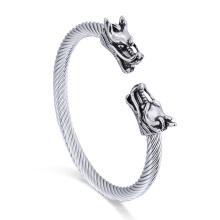 Male Cable Bracelet Men Gender Bangle Jewelry Hippie Dragon Bracelet
