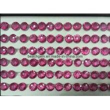 Topacio rosa piedra de forma cóncava de fuegos artificiales para joyería
