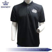 Schwarzes Poloshirt mit leerem Kragen für Männer