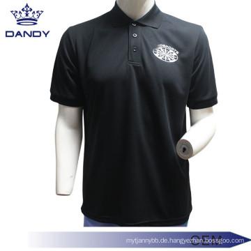 Blank Collared Black Polo-Shirt für Männer