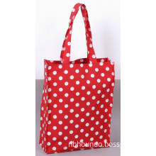 Promotional Fashion Eco-Friendly PVC Coated Cotton Shopping Bag