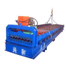 Corrugação para telhados de telha de folha que faz a máquina