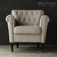 Nuevo estilo de lujo apariencia sala de estar respaldo alto silla