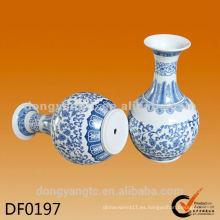 Florero de cerámica modificado para requisitos particulares del logotipo, florero de cerámica