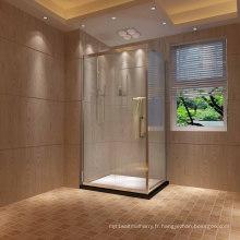 Cabine de douche coulissante à porte simple rectangulaire Rectangle