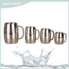 220/300/450/500ml/1000ml cheap stainless steel beer mug