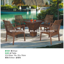 Outdoor Patio Wicker Furniture New All Weather Resin 6-Piece Dining Table Chair & Bench Set