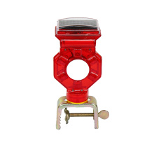 long visibility distance solar road hazard warning light
