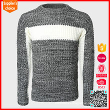 Nuevo suéter de acrílico grueso del mens del modelo del telar jacquar de la nueva manera