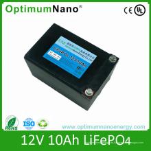Batería recargable de 12V 10ah LiFePO4 para luz LED