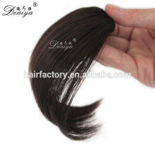 Natural color high quality synthetic fringe easy clip in hair bang neat bang