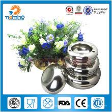 Оптовая уникальный дешевые круглой формы ручной ashtray нержавеющей стали