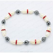 pearl Hematite stretch bracelet