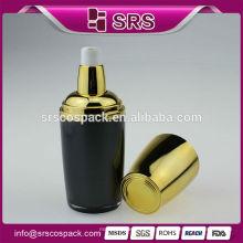Plástico vazio loção corporal garrafa e novo design 30ml 50ml 120ml loção acrílica preto garrafa de luxo cuidados da pele