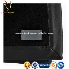 Couverture double couche en molleton chaudement chaud en laine et soie avec logo