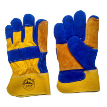 Cow Split Leather Working Work Protective Safety Hand Gloves