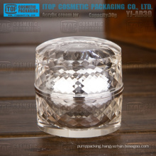 2014 New products YJ-AD Series luxury high-end 30g-50g round diamond acrylic jar