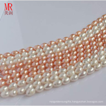 8-9mm Rice Shape Freshwater Pearl Strand
