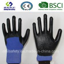 13Г полиэфира оболочки Нитрила покрытием перчатки (сл-N117)