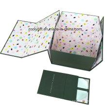Impresión personalizada del logotipo de cartón rígido de papel plegable de almacenamiento de embalaje Caja de regalo