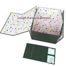 Impression de logo personnalisé Carton rigide Papier pliable Emballage Stockage Boîte cadeau