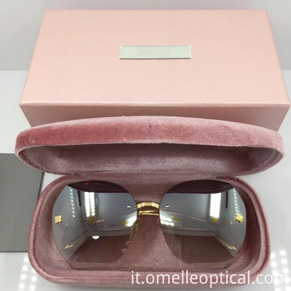Rimless Sunglasses Female