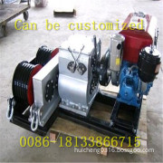 Fast power cutter mill 5 tons of diesel powered winch winch