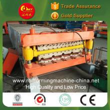 Máquina de fazer telhas de camada dupla para painéis corrugados e cauda de cauda
