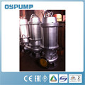 High performance and high quality stainless steel submersible sewage pump