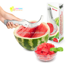 Watermelon Slicer - Cuts & Serves Fresh Melon Quickly It's the Best Fruit Corer Cutter and Tongs all In One Awesome Kitchen Tool