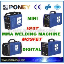 MMA DC INVERTER máquina de soldagem IGBT e MOSFET 60% ciclo de trabalho