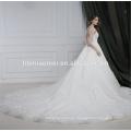 El último vestido de boda diseña el vestido de boda sin mangas del tren de la corte nupcial
