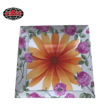 Flowers Plastic Charger Plate with Printing