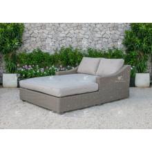 ALAND COLLECTION - Bestseller PE synthetische Korbweide doppelte Tagesbett Gartenmöbel