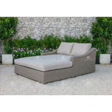 ALAND COLLECTION - Best selling PE synthetic wicker double daybed outdoor furniture