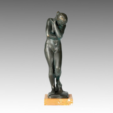 Classical Statue Eve and Adam Bronze Sculpture, Rodin TPE-246/247