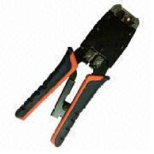 Обжимной инструмент для 8p8c / RJ45, Rj12 / 6p6c, Rj11 / 6p4c, 6p2c с храповым механизмом