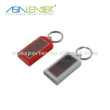 Waterproof mini solar keychain flashlight