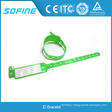Patient Identification Band with Plastic Snap Button