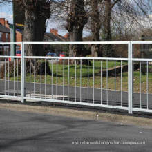 Roadside Pedestrian Safety Guard Rails with Staggered Bars