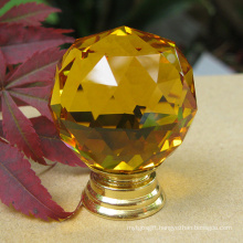Amber Glass Faces Small Cabinet Knobs 20mm
