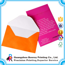 DL Size Offset Paper Fancy Custom Made Red Envelope With Good Quality
