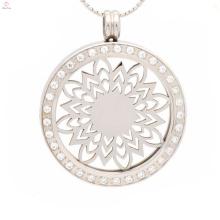 Collier collier en métal étanche rond personnalisé charme la lumière pour les couples