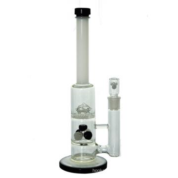 5 Showerheads Honeycomb golfinhos tubo de água de vidro para fumar (ES-GB-442)