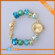 Lastest Design Factory Wholesale Blue Plastic Bead Charm Bracelet