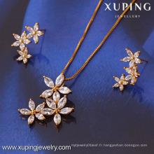 61268-Xuping Set de bijoux pour femme Fashion avec plaqué or 18 carats