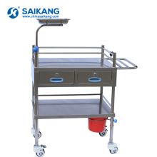 Trole de aço inoxidável do tratamento do hospital SKH029