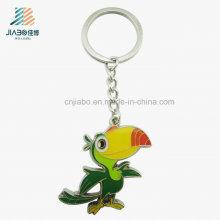 Porte-clés perroquet coloré promotionnel d'alliage d'échantillon gratuit pour Sf